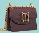 Diordirection lambskin flap bag (price unavailable), Dior.