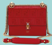 Mini Kan I calfskin shoulder bag, $3,290, Fendi.