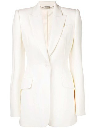 Lined wool jacket, $2,650, Alexander McQueen.