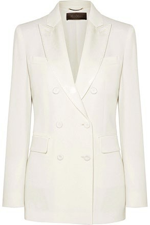 Lined acetate-blend jacket  (price unavailable), Max Mara.