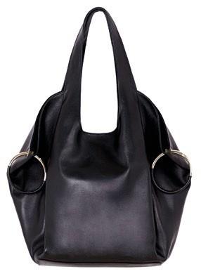 Calf leather bag, $545, Massimo Dutti.