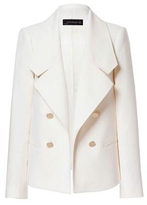Lined polyester-blend jacket, $159, Zara.