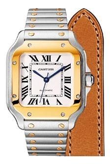 Santos de Cartier gold and steel watch, $14,300.