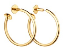 Gold earrings (price unavailable), Louis Vuitton.