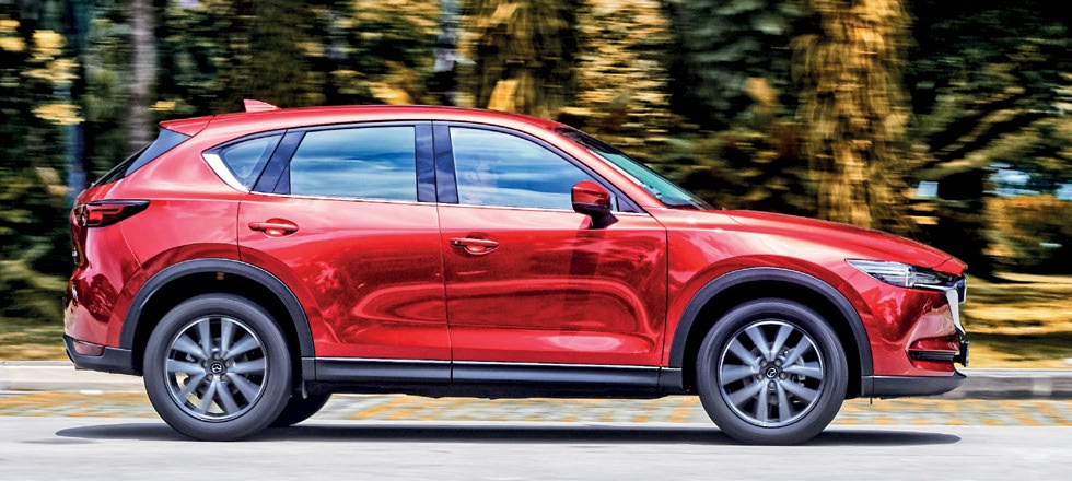 CX-5 is tuned for better handling, whereas the Harrier has the edge in ride comfort.