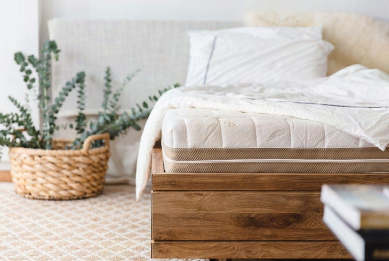 European Bedding carries organic latex mattresses, such as the Heveya Natural Organic Latex Mattress (from $2,688 for single-size).