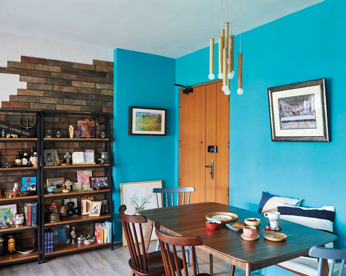 A splash of blue