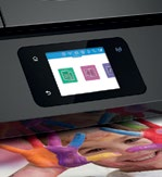 The printer's 2.65-inch capacitive touchscreen isn't very big, but it is responsive.