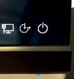 The monitor boasts thin bezels and slim black borders, maximizing its visual presentation.