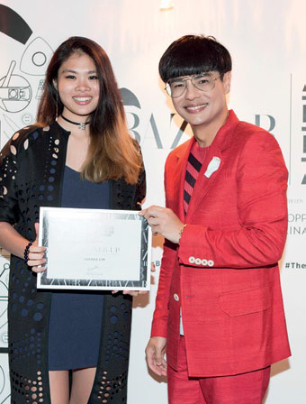 First runner-up Joanna Lim with Kenneth Goh