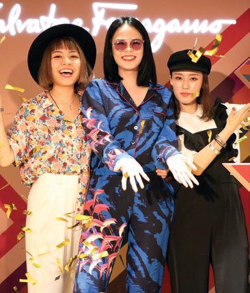 Grace Lim, Hayley Woo and Valerie Wang