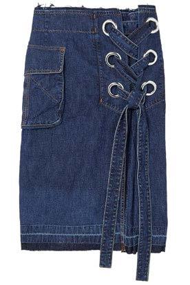 Sacai skirt, $800, from Dover Street Market.
