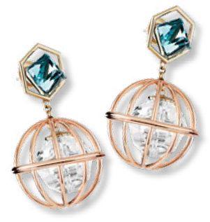 Earrings, $699, from Mary Katrantzou x Atelier Swarovski.