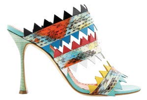 Shoes, $1,790, from Manolo Blahnik.