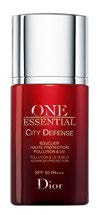 The Dior One Essential City Defense Pollution and UV Shield Advanced Protection SPF 50 PA+++, $95 (30 ml), prevents particles from adhering to or penetrating skin, while antioxidants help neutralise free radicals.