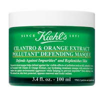 The two main ingredients, orange and cilantro extracts, in Kiehl's Cilantro & Orange Extract Pollutant Defending Mask, $62 (100 ml), work to neutralise free radical damage and strengthen the skin barrier.