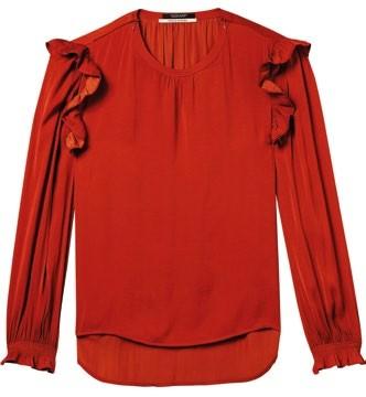 Silk blouse (price unavailable), Scotch & Soda.