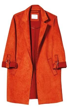Lined polyester jacket, $69.90, Bershka.