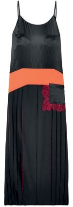 Crepe de Chine with satin and lace panels,  $1,010, Tory Burch.