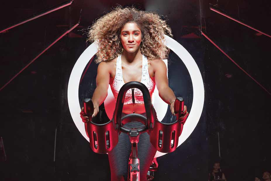 Ciara Williams is one of the US's leading rhythm cycling instructors.