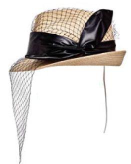 Straw fedora with veil, $199, High Street Fashion.
