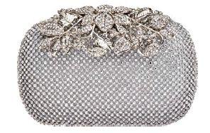 Rhinestone-embellished metal clutch, $299, High Street Fashion.