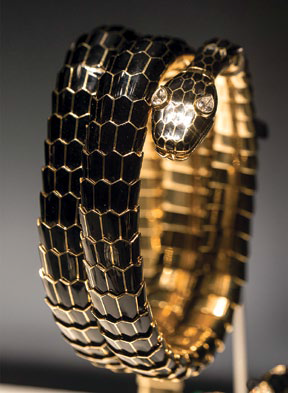 The exhibition showcases Serpentis from the brand's archives and private collections