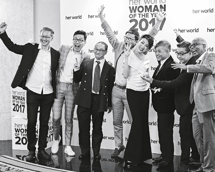 3. Her World Woman of the Year 2017, Angelene Chan, with her colleagues from DP Architects.