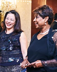 14. Chan Ee Lin, past president, Financial Women's Association of Singapore (left), with Noor Quek, president, Breast Cancer Foundation.