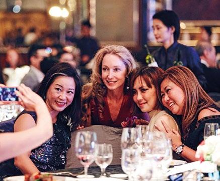 15. From left: Chan Ee Lin; Paige Parker, gemologist; Sulian Tan-Wijaya, executive director, Savills Singapore; and Monica Alsagoff, director, marketing communications, JW Marriott Hotel Singapore South Beach.
