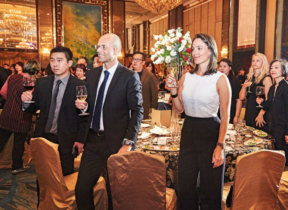 10. From left: Dr Calvin Chan of Calvin Chan Aesthetic & Laser Clinic; Jan Ehlen; and Sonja Piontek.
