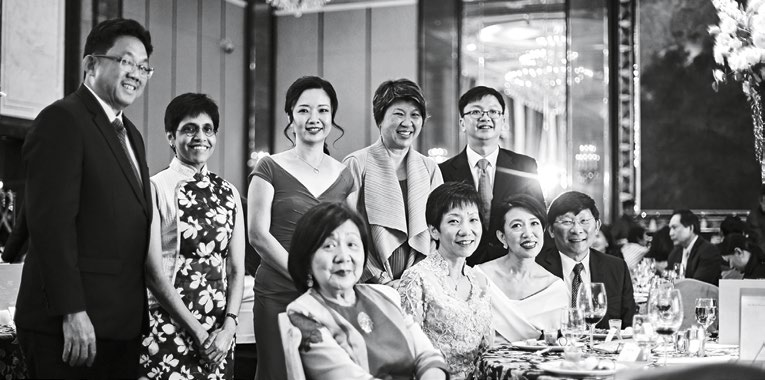 1. Back row, from left: Ng Yat Chung, CEO, SPH; Sudha Nair, Her World Woman of the Year 2016; Rachel Eng, Her World Woman of the Year 2014; Janet Ang, vice-president, IBM Asia Pacific; and Loh Yew Seng, CEO, SPH Magazines. Front row, from left: Jennie Chua, chairman, Her World Woman of the Year judging panel; Minister Grace Fu; Angelene Chan, Her World Woman of the Year 2017; and Angelene's husband, Dr Chia Tai Tee.