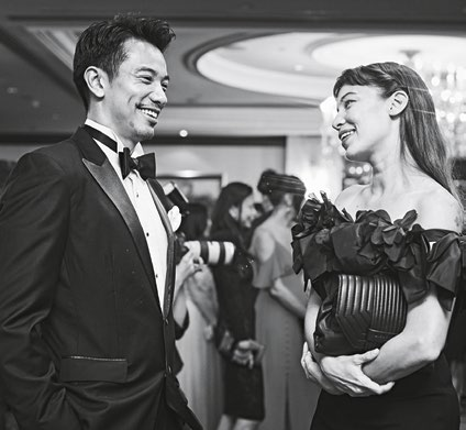 11. Jackson Tan, director, Rise Fitness, with model Serena Adsit, founder and managing director of Mint Singapore.
