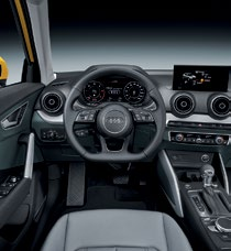 The Q2 features Audi's futuristic all-digital Virtual Cockpit display.