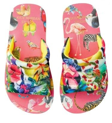 Patterned pool shoes $19.95, from www2.hm.com/en_asia2
