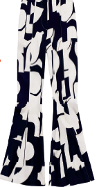 Viscose fishtail pants, $159.