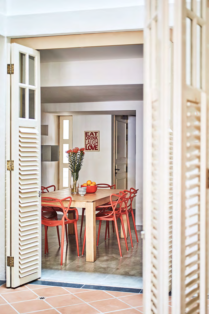 Balcony doors allow the spaces to connect seamlessly from room to room.