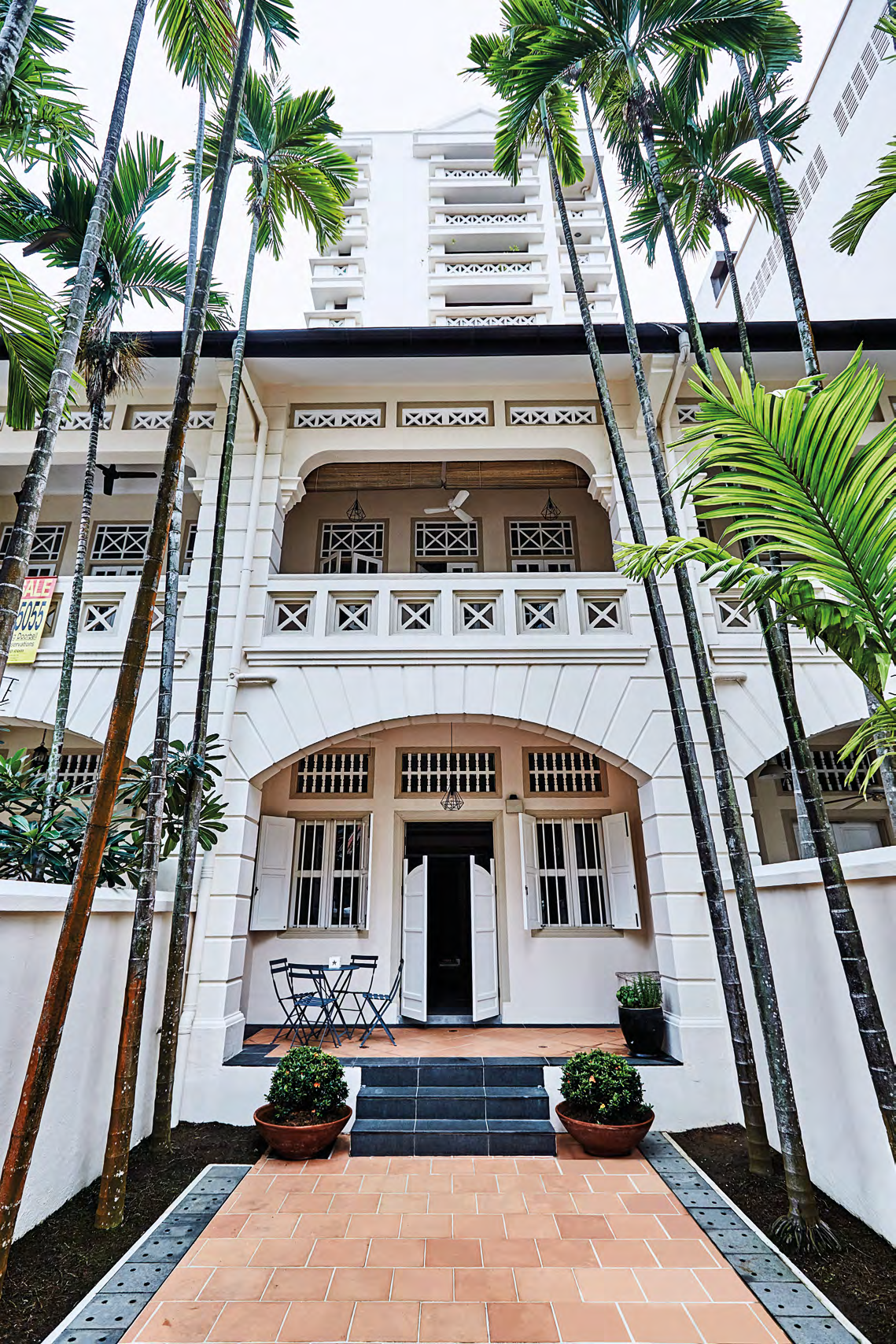 "This is one of three pre-war terrace houses along Kim Yam Road. It is named ""Sireh"", which translates to betel leaves, a vine that is commonly cultivated and consumed in South-east Asia."