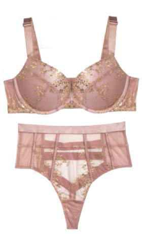 Victoria's Secret bralet, $49, and undies, $39.40
