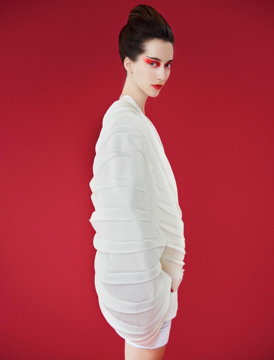 Dress, Balmain OPPOSITE: Dress,  Louis Vuitton
