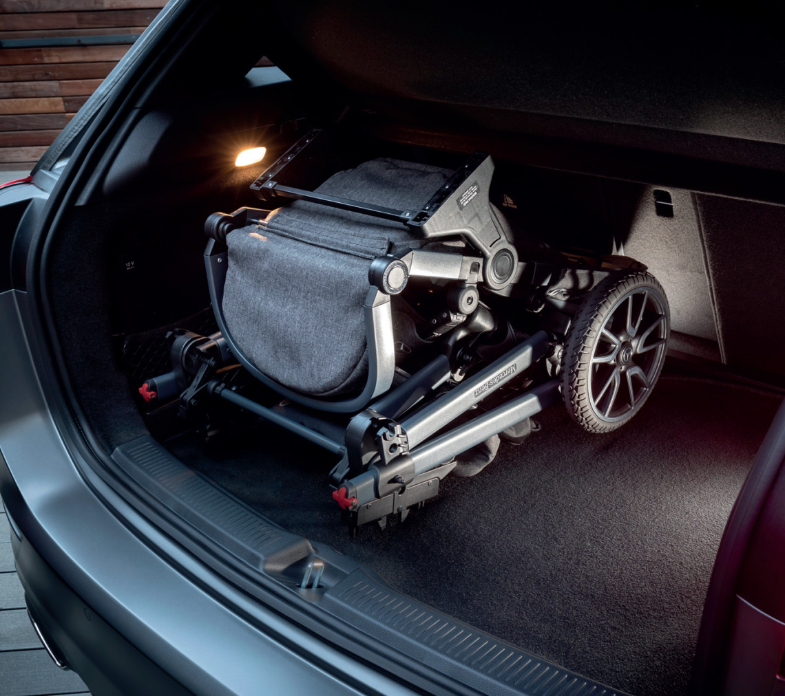 B-Class' boot volume can be expanded from 455 litres to 1540 litres with the rear seats folded.