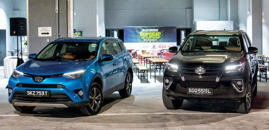 Supporting the Torque team were a RAV4 and a Fortuner, Toyota's reliable suburban warriors.