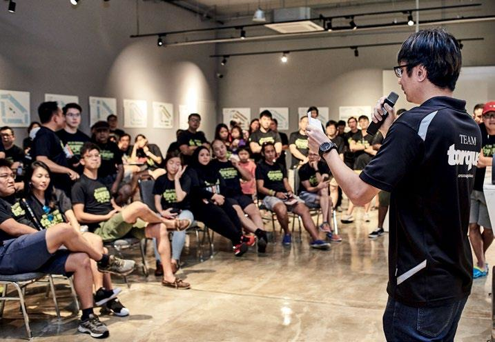 Torque's editor David Ting (right) failed to elicit laughs with his stand-up comedy routine.