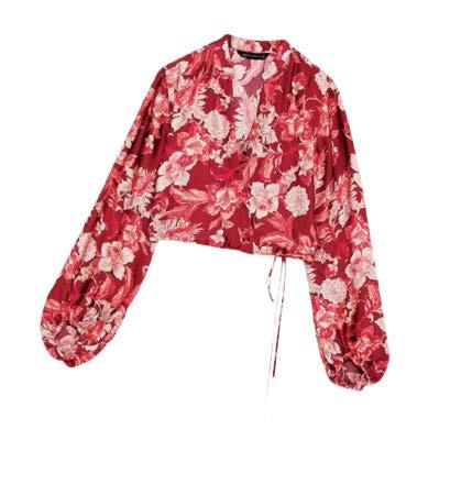 ZARA floral-print blouse, $69.90