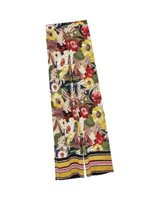 ZARA floral-print trousers, $69.90