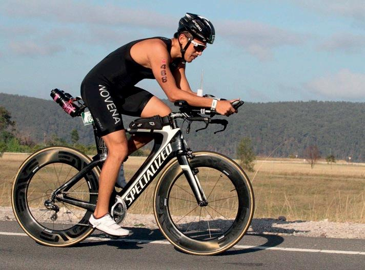 <b>IRONMAN</b> Nelson trains for three hours daily. The routine helps keep his mind focused.