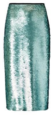 Polyester skirt, $129, Mango.