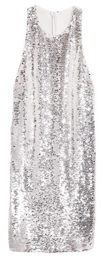 Polyester dress with sequins, $139, H&M.