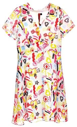 Polyester dress, $155.80, iRoo.