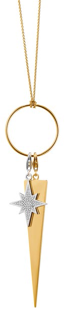 Charm Club Necklace Set: Circle gold-plated necklace, $219; Glitter Star pendant, $179; and Golden Triangle pendant, $179.